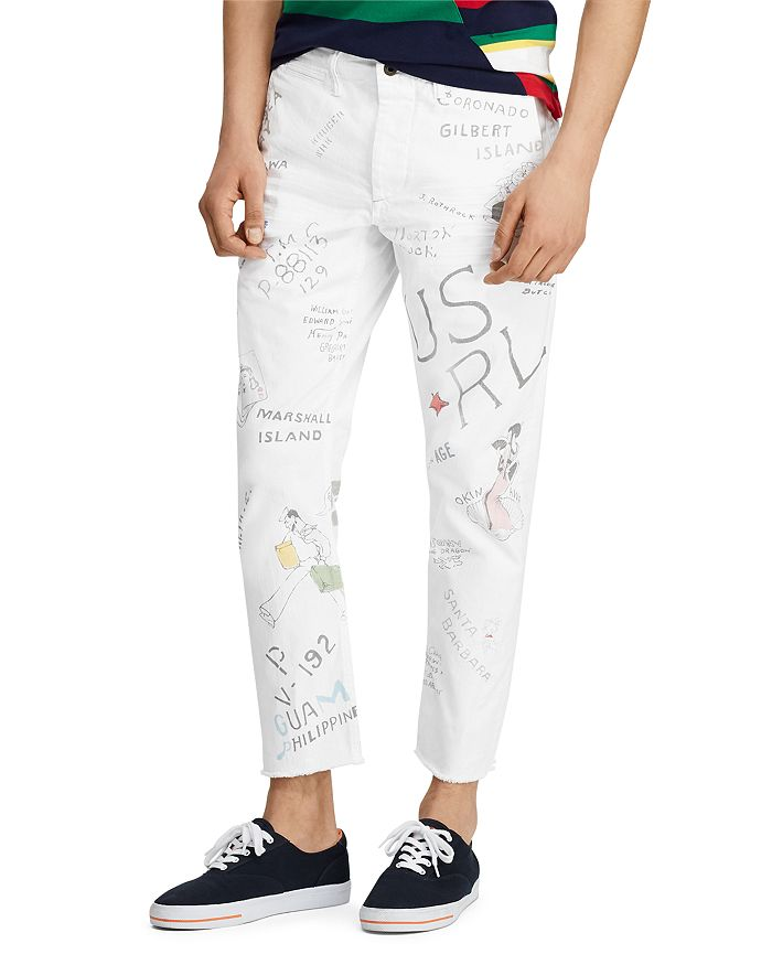 81860b4b5d Tapered Fit Selvedge Chinos