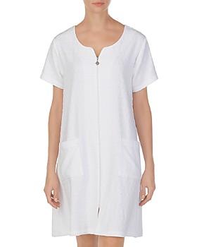 1e1b0aecd749 Eileen West - Cotton Short Zip Robe ...