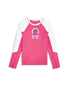 Ralph Lauren - Girls' Graphic Rash Guard Top - Little Kid