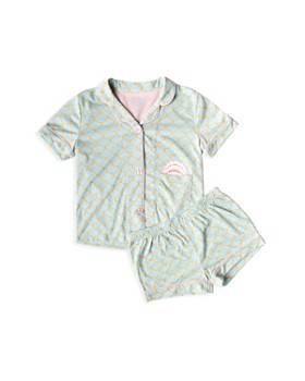 PJ Salvage - Girls' Scales Top & Shorts Pajama Set - Little Kid
