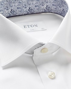 Eton - Paisley Contrast Slim Fit Dress Shirt