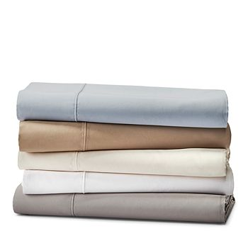 Hudson Park Collection - 825TC Flat Sateen Sheet, Queen - 100% Exclusive