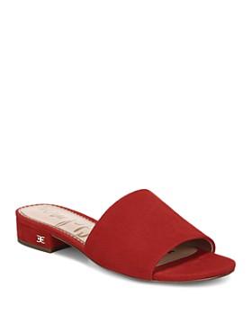 Sam Edelman - Women's Kenz Block Heel Slide Sandals