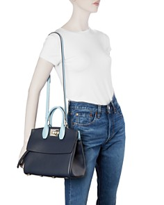 Salvatore Ferragamo - Small Studio Color-Block Leather Satchel