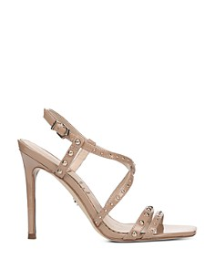 Sam Edelman - Women's Lennox Studded Metallic Leather High-Heel Sandals