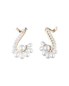 Carolee - Simulated Pearl Fan Ear Cuffs