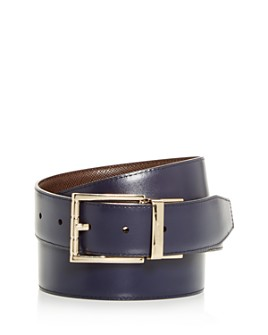 Bally - Men's Astor Embossed Leather Reversible Belt