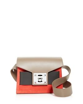Salar - Mila Small Color-Block Suede & Leather Shoulder Bag