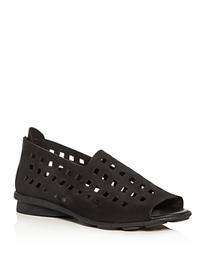 Arche WOMEN'S DRICK PERFORATED OPEN-TOE FLATS