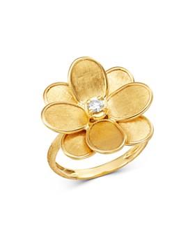 Marco Bicego - 18K Yellow Gold Petali Diamond Flower Ring