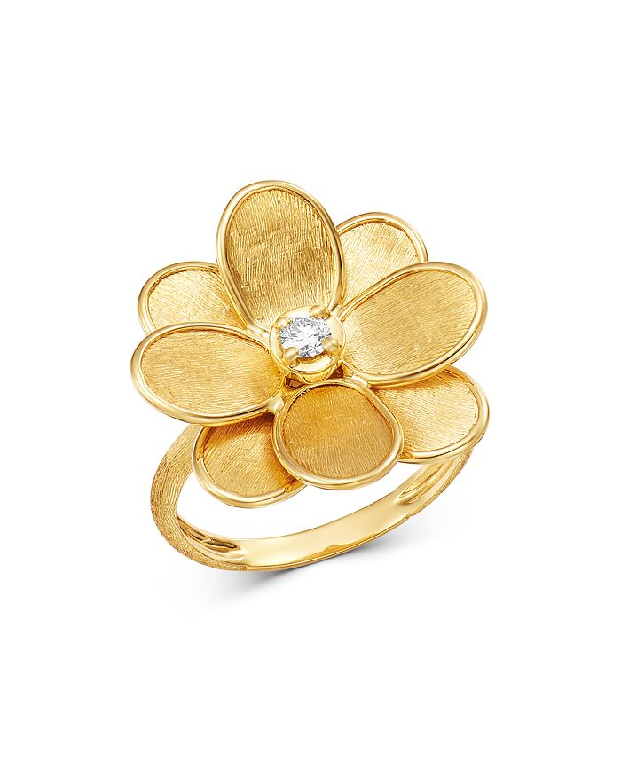 Marco Bicego - 18K Yellow Gold Petali Diamond Flower Ring