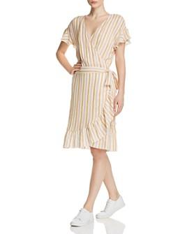 Rails - Brigitte Striped Ruffle Wrap Dress