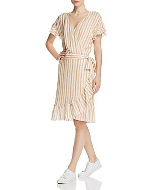 Rails Dresses BRIGITTE STRIPED RUFFLE WRAP DRESS
