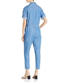 DKNY - Chambray Short-Sleeve Jumpsuit