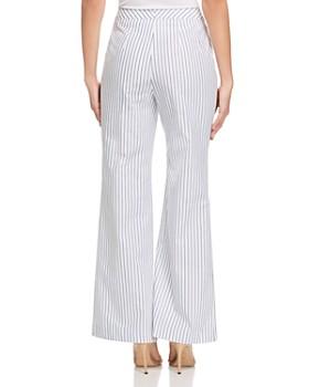 DKNY - Striped Wide-Leg Pants
