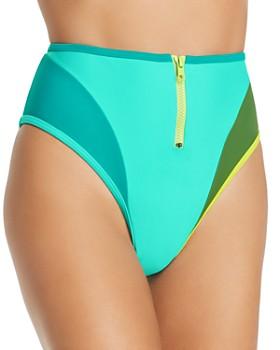 CHROMAT - Mikito Color-Blocked Zip Bikini Bottom