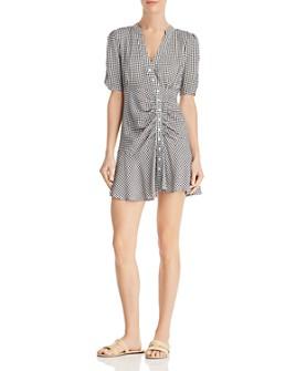 En Créme - Asymmetric Gingham Dress