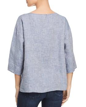 Eileen Fisher - Organic Linen Boat-Neck Top