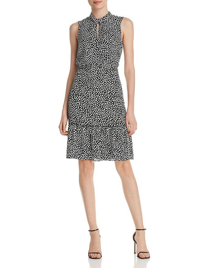 KARL LAGERFELD Paris - Dot-Print Flounce Dress