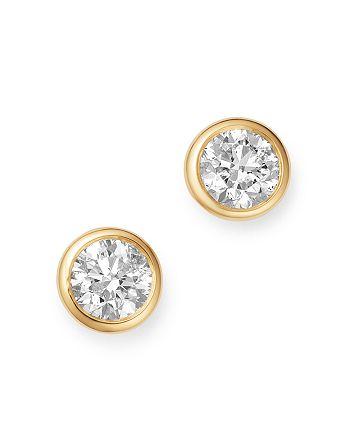 Bloomingdale's - Diamond Bezel Set Stud Earrings in 14K Yellow Gold, 0.75 ct. t.w. - 100% Exclusive