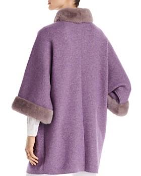 Maximilian Furs - Mink Fur-Trim Wool & Cashmere Kimono Coat - 100% Exclusive
