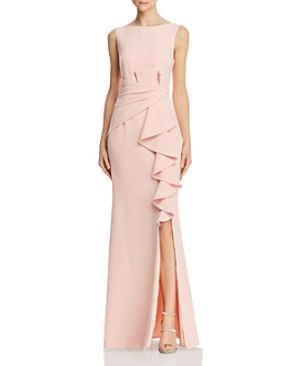 Eliza J - Sleeveless Cascading-Ruffle Gown