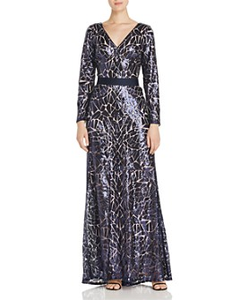 Tadashi Shoji - Sequined Stained-Glass Gown