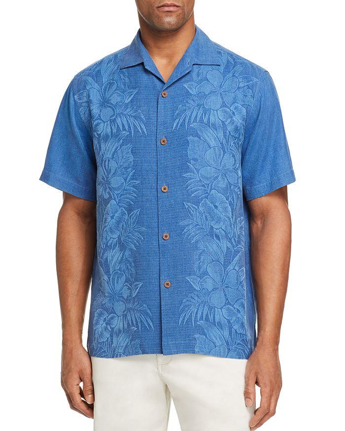 Tommy Bahama - Kamari Short-Sleeve Classic Fit Silk Jacquard Camp Shirt
