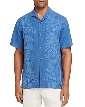 Tommy Bahama T-shirts KAMARI SHORT-SLEEVE CLASSIC FIT SILK JACQUARD CAMP SHIRT