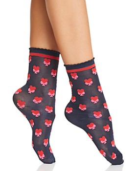 kate spade new york - Heart-Print Trouser Socks