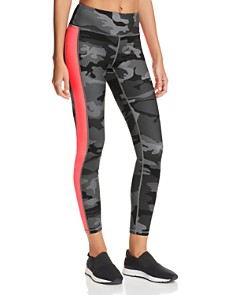 AQUA - Side-Stripe Camo Leggings - 100% Exclusive