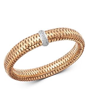 Roberto Coin 18K Rose & White Gold Primavera Large Diamond Flexible Bangle Bracelet-Jewelry & Accessories