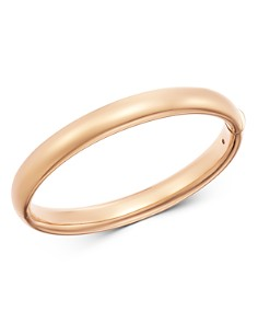 Roberto Coin - 18K Rose Gold Basic Gold Oval Bangle Bracelet