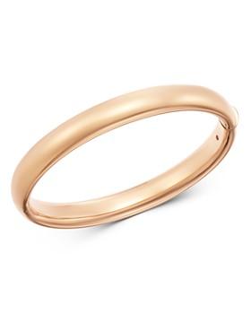 95fc372e8066 Roberto Coin - 18K Rose Gold Basic Gold Oval Bangle Bracelet ...