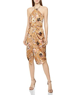 REISS - Paola Printed Cocktail Dress
