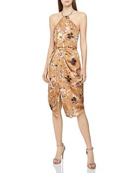 a20b86293e8 REISS - Paola Printed Cocktail Dress ...