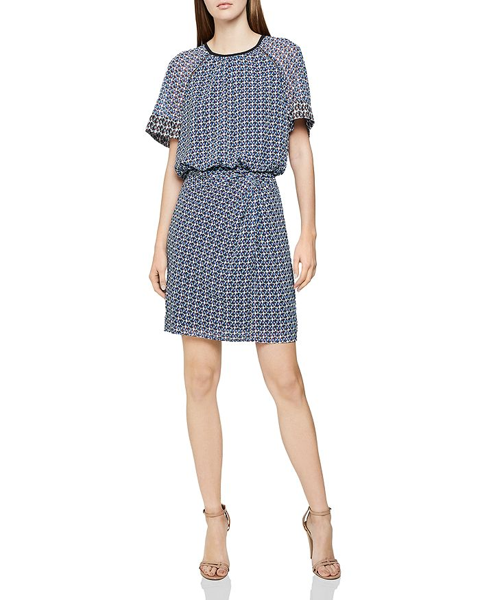 REISS - Heidi Diamond-Print Dress