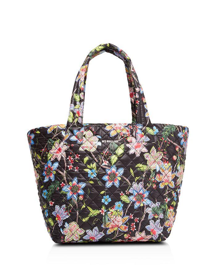 MZ WALLACE - Black Floral Medium Metro Tote - 100% Exclusive