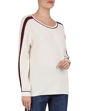 Gerard Darel Jake Racing-Stripe Sweater