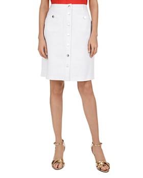 Gerard Darel - Ina Button-Front Denim Skirt