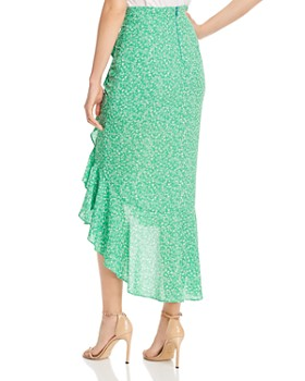 LIKELY - Astrid Ruffled Floral-Print Midi Skirt