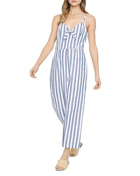 Sanctuary - Take Away Striped Tie-Front Jumpsuit