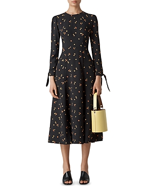Whistles Floral-Print Midi Dress