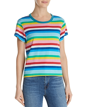 Pam & Gela Tops RAINBOW-STRIPE TEE