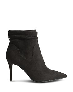 KAREN MILLEN - Women's Ruched High-Heel Booties