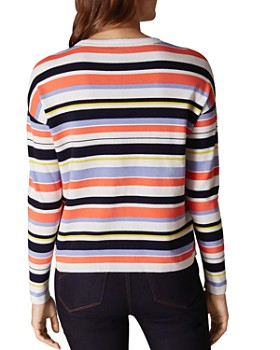 KAREN MILLEN - Striped Drop-Shoulder Sweater