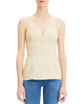 Linen Sweetheart Top by Theory