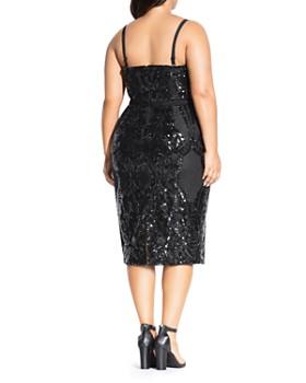 City Chic Plus - Sofia Sleeveless Sequined Dress