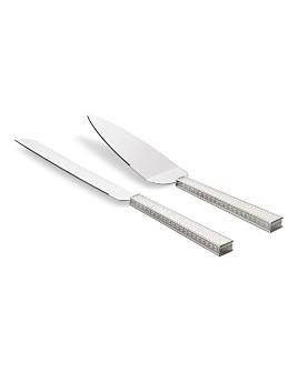Wedgwood - Silver With Love Nouveau Cake Knife & Server Set