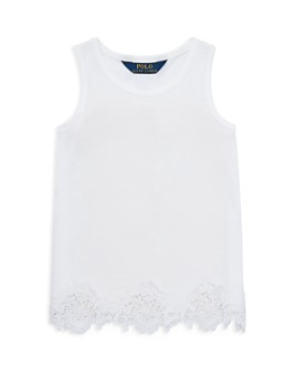Ralph Lauren - Girls' Lace-Trim Tank - Little Kid
